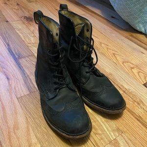 Black lace up Frye boots